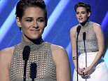 Kristen Stewart presents the Hollywood actress award at the Hollywood Film Awards at the Palladium on Friday, Nov. 14, 2014, in Los Angeles. (Photo by Chris Pizzello/Invision/AP)