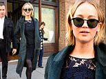Jennifer Lawrence wearing a black lace skirt and green coat seen leaving the Greenwich Hotel in New York City\n\nPictured: Jennifer Lawrence\nRef: SPL890454  151114  \nPicture by: Splash News\n\nSplash News and Pictures\nLos Angeles: 310-821-2666\nNew York: 212-619-2666\nLondon: 870-934-2666\nphotodesk@splashnews.com\n