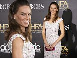 Actress Hilary Swank arrives at the Hollywood Film Awards in Hollywood, California November 14, 2014.  REUTERS/Danny Moloshok (UNITED STATES  - Tags: ENTERTAINMENT)