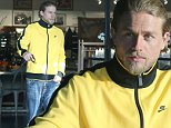 Picture Shows: Charlie Hunnam  November 14, 2014\n \n 'Sons Of Anarchy' actor Charlie Hunnam spotted out for lunch with a friend in Hollywood, California. Charlie dressed casually in a two toned jacket and blue jeans.\n \n Exclusive All Rounder\n UK RIGHTS ONLY\n \n Pictures by : FameFlynet UK © 2014\n Tel : +44 (0)20 3551 5049\n Email : info@fameflynet.uk.com