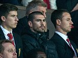 Manchester United's Victor Valdes in the stands - MANCHESTER UNITED V CHELSEA (1-1) - Football Premier League PIcture by Ian Hodgson/Daily Mail