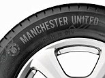 Manchester United's own brand of tyres have gone on sale for players, officials and supporters of the team