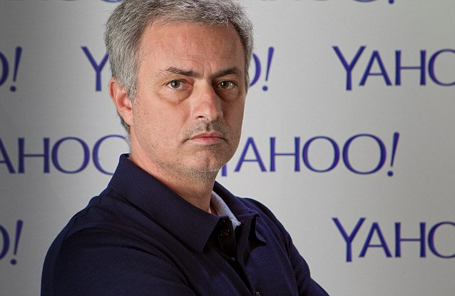 Giving his views: Mourinho gave his thoughts on the World Cup final between Argentina and Germany