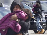 EXCLUSIVE: Jay Z carries Blue Ivy onto their private jet as they prepare to leave New Orleans.  Jay Z and Beyonce, not pictured, where in the Big Easy to celebrate the wedding of Solange Knowles and Alan Ferguson.  Pictured: Jay Z,Blue Ivy Ref: SPL891960  171114   EXCLUSIVE Picture by: Splash News  Splash News and Pictures Los Angeles: 310-821-2666 New York: 212-619-2666 London: 870-934-2666 photodesk@splashnews.com