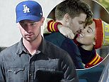 Picture Shows: Patrick Schwarzenegger  November 17, 2014    Patrick Schwarzenegger is absorbed with texting on his phone as he takes a walk in Los Angeles, California.     It could be that the model is texting Miley Cyrus - the two have been spotted on several dates this past week, the most recent on Saturday night at Mr. Nice Guy.    Exclusive - All Round  UK RIGHTS ONLY    Pictures by : FameFlynet UK    2014  Tel : +44 (0)20 3551 5049  Email : info@fameflynet.uk.com