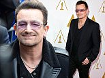Singer-songwriter Bono of music group U2 attends the 86th Academy Awards nominee luncheon at The Beverly Hilton Hotel on February 10, 2014 in Beverly Hills, California.  Caption:BEVERLY HILLS, CA - FEBRUARY 10: Credit: Kevin Winter / Staff (Photo by Kevin Winter/Getty Images)