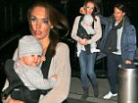 Tamara Ecclestone Husband Jay Rutland and Daughter Sophia walking into there hotel together in New York City.You Can See Tamara holding her baby in a baby carrier on the front of her chest as they check into there hotel.  Pictured: Tamara Ecclestone,Jay Rutland,Sophia Ref: SPL889927  181114   Picture by: Andrew Rocke / Splash News  Splash News and Pictures Los Angeles: 310-821-2666 New York: 212-619-2666 London: 870-934-2666 photodesk@splashnews.com