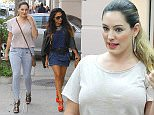Beverly Hills, CA - Kelly Brook struts her stuff during a retail therapy session with a friend following a visit to Beverly Hills Nail Design in Beverly Hills. Kelly looks to be enjoying the single life again and today showed off her figure in a pair of denim skinnies with strappy heels and a short sleeved tee as she and her friend strutted down the side walk while shopping for shoes.\nAKM-GSI       November  18, 2014 \nTo License These Photos, Please Contact :\nSteve Ginsburg\n(310) 505-8447\n(323) 423-9397\nsteve@akmgsi.com\nsales@akmgsi.com\nor\nMaria Buda\n(917) 242-1505\nmbuda@akmgsi.com\nginsburgspalyinc@gmail.com