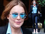 Mandatory Credit: Photo by Beretta/Sims/REX (4251684i)  Lindsay Lohan  Lindsay Lohan out and about, London, Britain - 18 Nov 2014  At Scott's Restaurant
