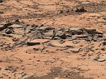 This small ridge, about 3 feet long, appears to resist wind erosion more than the flatter plates around it. Such differences are among the traits NASA's Curiosity Mars rover is examining at selected rock targets at the base of Mount Sharp. Curiosity's Mastcam acquired this view on Oct. 7, 2014.