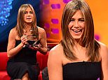 (left to right) Jennifer Aniston, Jason Bateman and Olly Murs during filming for The Graham Norton show at the London Studios, London. PRESS ASSOCIATION Photo. Picture date: Thursday November 13, 2014. The programme is due to be transmitted on November 21. Photo credit should read: Ian West/PA Wire