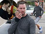 Picture Shows: Patrick Schwarzenegger  November 20, 2014    Model Patrick Schwarzenegger is spotted out for a jog with a friend in Los Angeles, California. Patrick is reportedly dating pop star Miley Cyrus.    Exclusive - All Round  UK RIGHTS ONLY    Pictures by : FameFlynet UK    2014  Tel : +44 (0)20 3551 5049  Email : info@fameflynet.uk.com