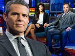 WATCH WHAT HAPPENS LIVE -- Episode 11159 -- Pictured: (l-r) Andy Cohen, Teresa Giudice, Joe Giudice -- (Photo by: Charles Sykes/Bravo/NBCU Photo Bank via Getty Images)