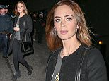 Emily Blunt spotted leaving the Late Show With David Letterman after did selfies with her fans outside the Ed Sullivan Theatre in New York City  Pictured: Emily Blunt Ref: SPL899285  261114   Picture by: Santi/Splash News  Splash News and Pictures Los Angeles: 310-821-2666 New York: 212-619-2666 London: 870-934-2666 photodesk@splashnews.com