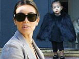 Pictured: Kim Kardashian\nMandatory Credit © KRLA/Broadimage\nKim Kardashian and baby North in a black Fur Vest arriving at a friends house in Beverly Hills\n\n11/28/14, Beverly Hills, California, United States of America\n\nBroadimage Newswire\nLos Angeles 1+  (310) 301-1027\nNew York      1+  (646) 827-9134\nsales@broadimage.com\nhttp://www.broadimage.com\n
