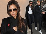 David And Victoria Beckham are seen at victorias shop in dover street mayfair, following davids car crash at the weekend, david was seen putting harper into their car, but looked sore as he bent down lifting harper into the car seat, victoria followed and the couple got into separate cars. 1 December 2014. Please byline: Vantagenews.co.uk