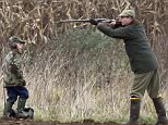 Copyright Albanpix.com. Pic by Rob Howarth Prince Edward out shooting on the Sandringham Estate pictured with his son James, Viscount Severn