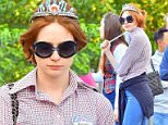 EXCLUSIVE: Wearing a little mermaid tiara and holding a magic wand, Dr Who star Karen Gillan celebrated her 27th birthday at the happiest place on earth, Disneyland. Karen was joined by her parents and friends and family as she rode Big Thunder Mountain and other rides in the park. Karen also wore a large pin on her shirt that told everyone that it was her birthday.\n\nPictured: Karen Gillan\nRef: SPL900867  291114   EXCLUSIVE\nPicture by: Fern / Splash News\n\nSplash News and Pictures\nLos Angeles: 310-821-2666\nNew York: 212-619-2666\nLondon: 870-934-2666\nphotodesk@splashnews.com\n