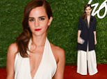 Emma Watson arriving at the British Fashion Awards 2014, London