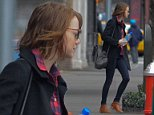 EXCLUSIVE: Emma Stone spotted in the West Village with a bottle of water in one hand and her iPhone in the other, on Sunday November 30, 2014.  Pictured: Emma Stone Ref: SPL895161  301114   EXCLUSIVE Picture by: Splash News  Splash News and Pictures Los Angeles: 310-821-2666 New York: 212-619-2666 London: 870-934-2666 photodesk@splashnews.com