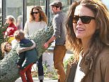 EXCLUSIVE TO INF.\nNovember 30, 2014: Keri Russell & Boyfruend Matthew Rhys Buy a Christmas Tree With Her Kids, River & Willa in Brooklyn in New York City.\nMandatory Credit: INFphoto.com\nRef: infusny-99