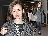Mandatory Credit: Photo by Masatoshi Okauchi/REX (4273042e)  Lily Collins  Lily Collins arriving at Narita International airport, Tokyo, Japan - 01 Dec 2014
