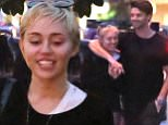 New couple Miley Cyrus and Patrick Schwarzenegger in love in Malibu during romantic outing. The couple walked the pier and went to sushi bar Nobu   saturday nov 29, 2014 X17online.com