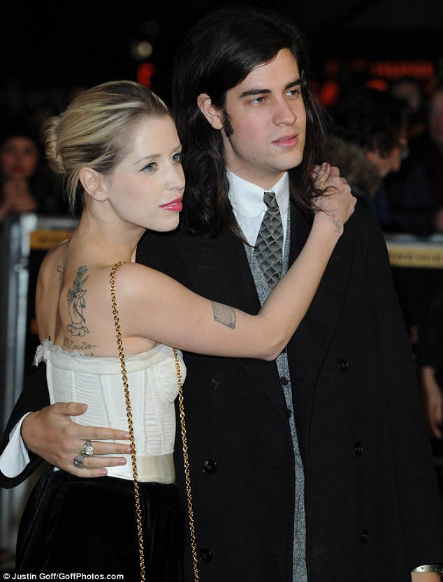 Date night: Peaches and her husband attended the premiere of The hunger Games: Catching Fire in London on Monday night