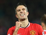 29th November 2014 - Barclays Premier League - Manchester United v Hull City - Robin van Persie of Man Utd celebrates after scoring their 3rd goal - Photo: Simon Stacpoole / Offside.