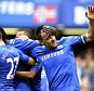 Leading from the front: Captain John Terry (right) put Chelsea in the lead