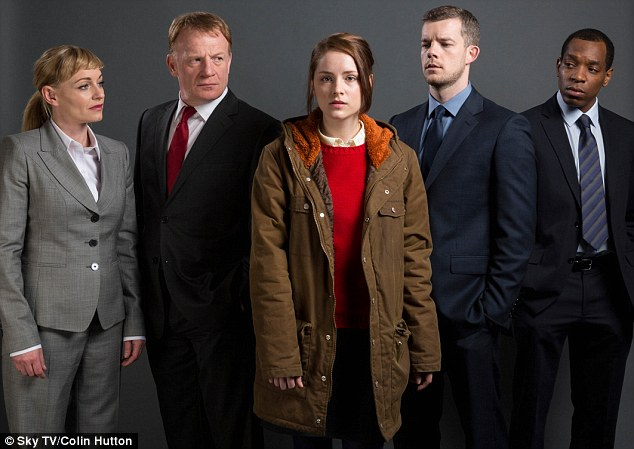 Drama: Sophie's co-stars include (from left) Christine Tremarco, Mark Lewis Jones, Russell Tovey and Syrus Lowe