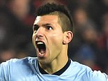 Manchester City's Sergio Aguero celebrates his goal during the Barclays Premier League match at the Stadium of Light, Sunderland. PRESS ASSOCIATION Photo. Picture date: Wednesday December 3, 2014. See PA story SOCCER Sunderland. Photo credit should read Owen Humphreys/PA Wire. Editorial use only. Maximum 45 images during a match. No video emulation or promotion as 'live'. No use in games, competitions, merchandise, betting or single club/player services. No use with unofficial audio, video, data, fixtures or club/league logos.