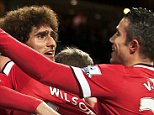 DECEMBER 2nd 2014 - MANCHESTER UNITED v STOKE CITY PREMIER LEAGUE Man United's Marouane Fellaini scores 1-0 PIcture by Ian Hodgson/Daily Mail