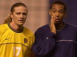 DEPORTIVO LA CORUNA V ARSENAL, UEFA CUP 4TH RND 2ND LEG. ARSENAL TRAINING.  PICTURED: EMMANUEL PETIT (R) & THIERRY HENRY