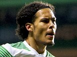 03/12/14 SCOTTISH PREMIERSHIP CELTIC v PARTICK THISTLE CELTIC PARK - GLASGOW Celtic's Virgil Van Dijk celebrates after scoring his side's opening goal of the game