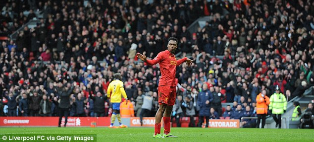 Dancing to his tune: Sturridge's celebration was seen more than a few times last season