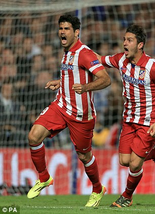 New pretender: Diego Costa (left) spearheaded Atletico's title challenge