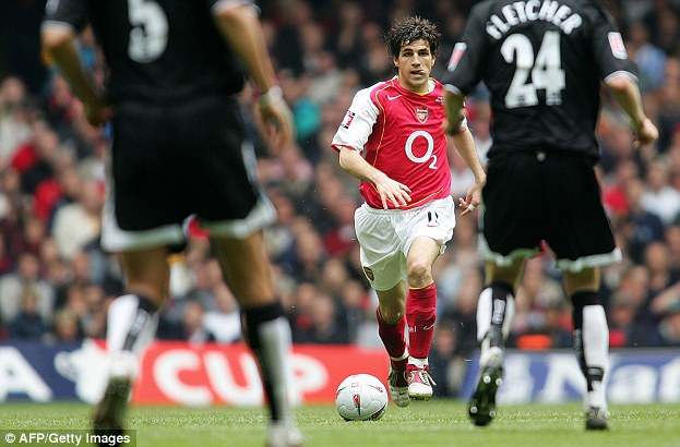 Youngster: Fabregas helped Arsenal to win the FA Cup final against Manchester United in 2005