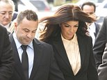 NEWARK, NJ - OCTOBER 02: Real Housewives of New Jersey stars Joe and Teresa Giudice arrive at the Federal Court building to stand before U.S. District Court Judge Esther Salas to be sentenced for bankruptcy, wire and mail fraud on October 2, 2014 in Newark, New Jersey. \n\nJoe and Teresa Giudice both face significant prison time and will be required to make restitution. Joe, who is not a United States citizen, could be deported, although that decision will be made by the U.S. Immigration and Customs Enforcement at a later date.\n\nPHOTOGRAPH BY NJ Advance Media /Landov / Barcroft Media\n\nUK Office, London.\nT +44 845 370 2233\nW www.barcroftmedia.com\n\nUSA Office, New York City.\nT +1 212 796 2458\nW www.barcroftusa.com\n\nIndian Office, Delhi.\nT +91 11 4053 2429\nW www.barcroftindia.com