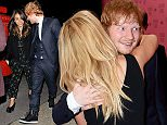 3 December 2014. Ed Sheeran and girlfriend Athina Andrelos seen arriving at the Edition hotel London via the back entrance in an attempt to avoid being photographed Credit: O'Rourke/GoffPhotos.com   Ref: KGC-81