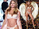 Strict embargo, not to be used before 21:00 GMT 02 Dec 2014 - Editorial Use Only, No Merchandising\n Mandatory Credit: Photo by David Fisher/REX (4273353h)\n Doutzen Kroes on the catwalk\n Victoria's Secret Fashion Show, London, Britain - 02 Dec 2014\n \n