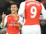 SPT_GCK_031214_Football Barclays Premier league, Arsenal v Southampton , Picture Graham Chadwick. Alexis Sanchez celebrates goal 1-0