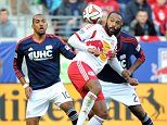 Zuma Press via Press Association Images File Photo: Thierry Henry has left New York Red Bulls after four-and-a-half years with the MLS club. Nov. 23, 2014 - Harrison, New Jersey, U.S - New York Red Bulls forward THIERRY HENRY (14) protects the ball against New England Revolution defender ANDREW FARRELL (2) and New England Revolution forward TEAL BUNBURY (10) during the first leg match of the MLS Eastern Conference Playoffs at Red Bull Arena in Harrison New Jersey New England defeats New York 2 to 1. (Credit Image: © Brooks Von Arx/ZUMA Wire) ... Soccer - MLS -  New York Red Bulls v New England Revolution - Red Bull Arena ... 22-11-2014 ... Harrison ... U.S. ... Photo credit should read: Brooks Von Arx/Zuma Press. Unique Reference No. 21556779 ...
