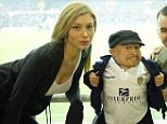 Hollywood actor Verne Troyer ( centre), best known as Mini-Me from the Austin Powers movies, showed up at the ground with a beautiful blonde companion. The woman is Massimo Cellino?s (left) daughter, Eleonora Cellino. Permission given by owner Phil Isle on twitter