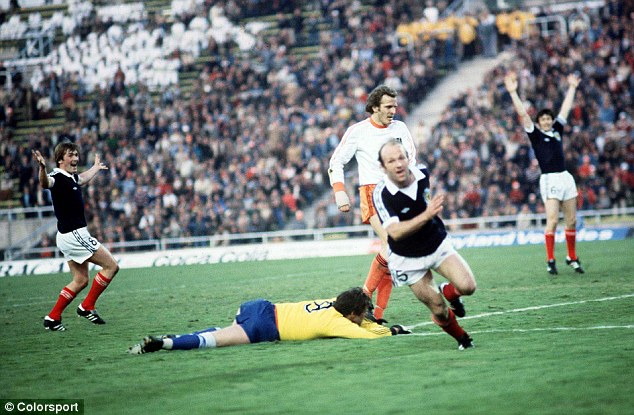Goal to remember: Archie Gemmill celebrates his stunning goal for Scotland against Holland in 1978