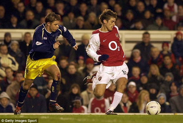Where it all began: Bentley started his career with Arsenal, spending four years with the north London club