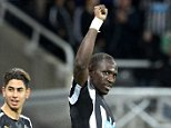 Newcastle United's French midfielder Moussa Sissoko celebrates scoring his goal during the English Premier League football match between Newcastle United and Queens Park Rangers at St James' Park in Newcastle-upon-Tyne, north east England on November 22, 2014. Newcastle won the game 1-0. AFP PHOTO / LINDSEY PARNABY RESTRICTED TO EDITORIAL USE. No use with unauthorized audio, video, data, fixture lists, club/league logos or live services. Online in-match use limited to 45 images, no video emulation. No use in betting, games or single club/league/player publications.LINDSEY PARNABY/AFP/Getty Images