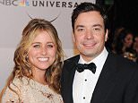 FILE - DECEMBER 03: TV host Jimmy Fallon and his wife Nancy Juvonen welcomed their second child, a baby girl, on December 3, 2014. BEVERLY HILLS, CA - JANUARY 16:  Actor Jimmy Fallon (R) and wife producer Nancy Juvonen arrives at NBC Universal's 68th Annual Golden Globes After Party at The Beverly Hilton Hotel on January 16, 2011 in Beverly Hills, California.  (Photo by Michael Kovac/FilmMagic)
