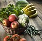 Fresh fruit and vegetables --- Image by © Rick Gayle Studio/Corbis