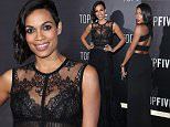 "NEW YORK, NY - DECEMBER 03:  Actress Rosario Dawson attends the ""Top Five"" New York Premiere  at Ziegfeld Theater on December 3, 2014 in New York City.  (Photo by Rob Kim/Getty Images)"